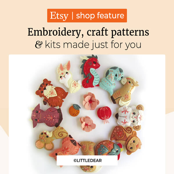 Embroidery, craft patterns and kits made just for you