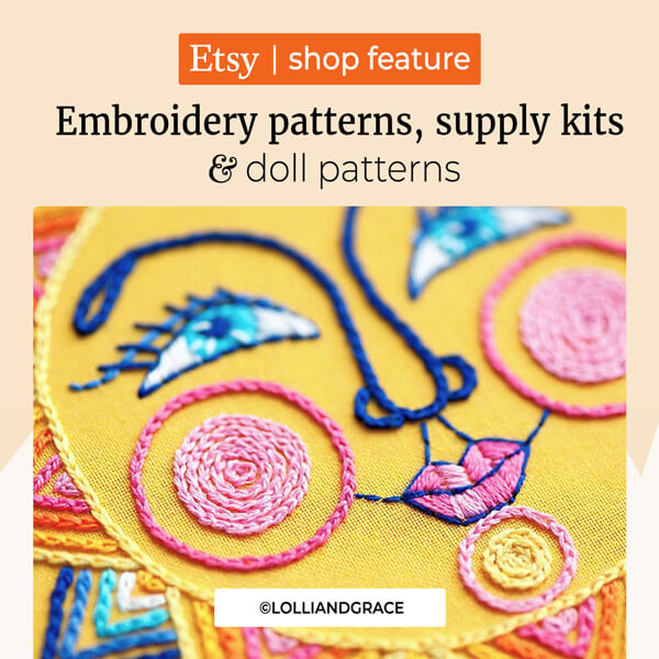 Embroidery Patterns, Supply Kits and Doll Patterns