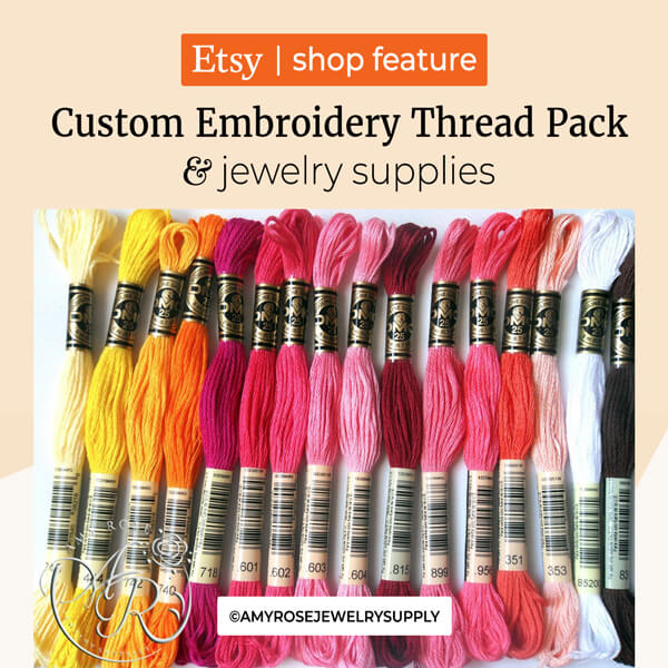 Jewelry and jewelry supplies & Custom Embroidery Thread Pack