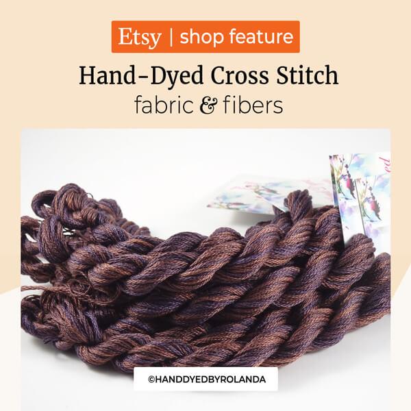 Hand-Dyed Cross Stitch Fabric & Fibers by Rolanda