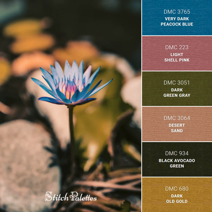 Stitch Palette SPA0008: Blue Bloom