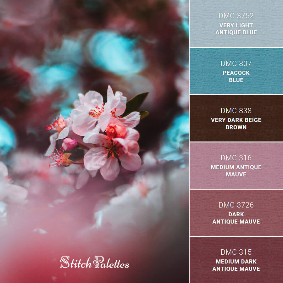 Stitch Palette SPA0012: Thriving Blossom