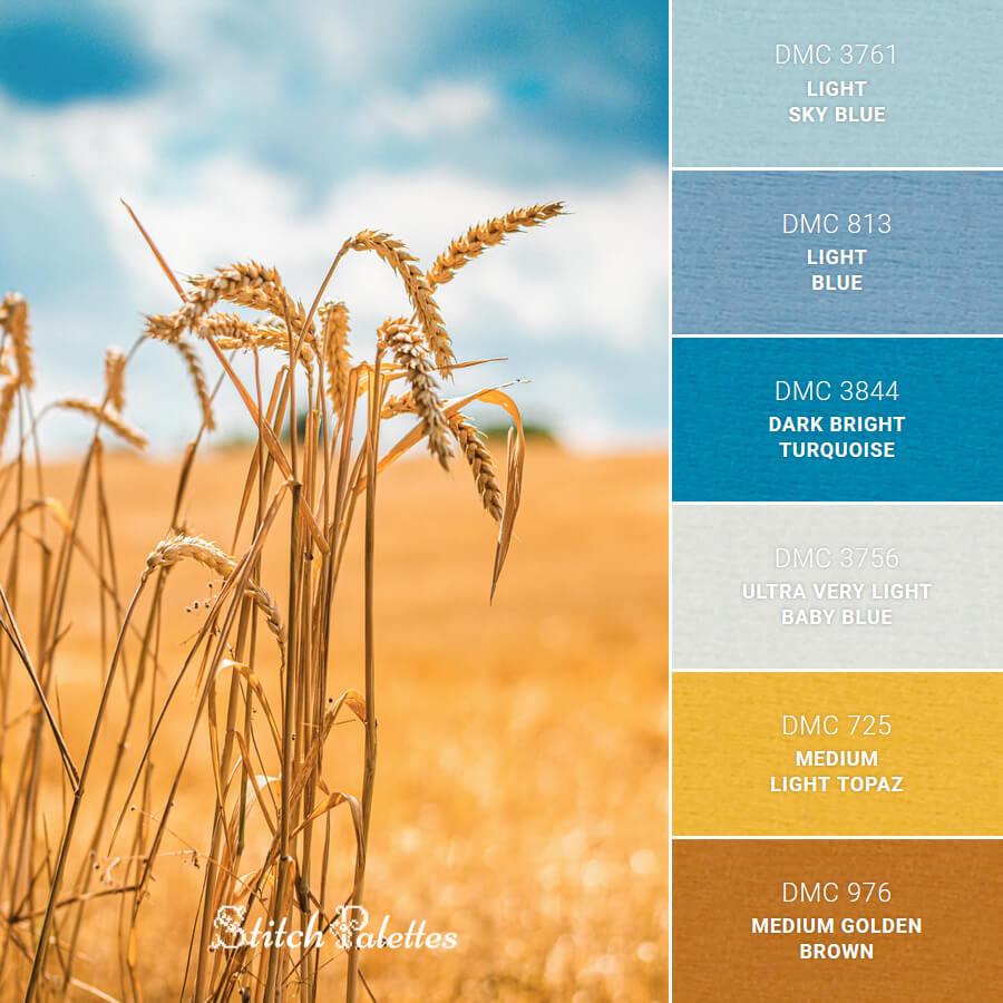 Stitch Palette SPA0013: Golden Crops