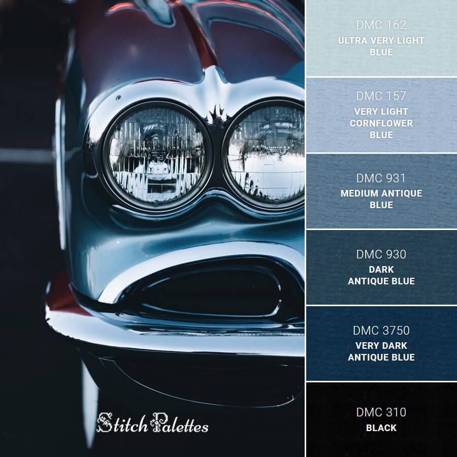 Stitch Palette SPA0028: Blue Reflections