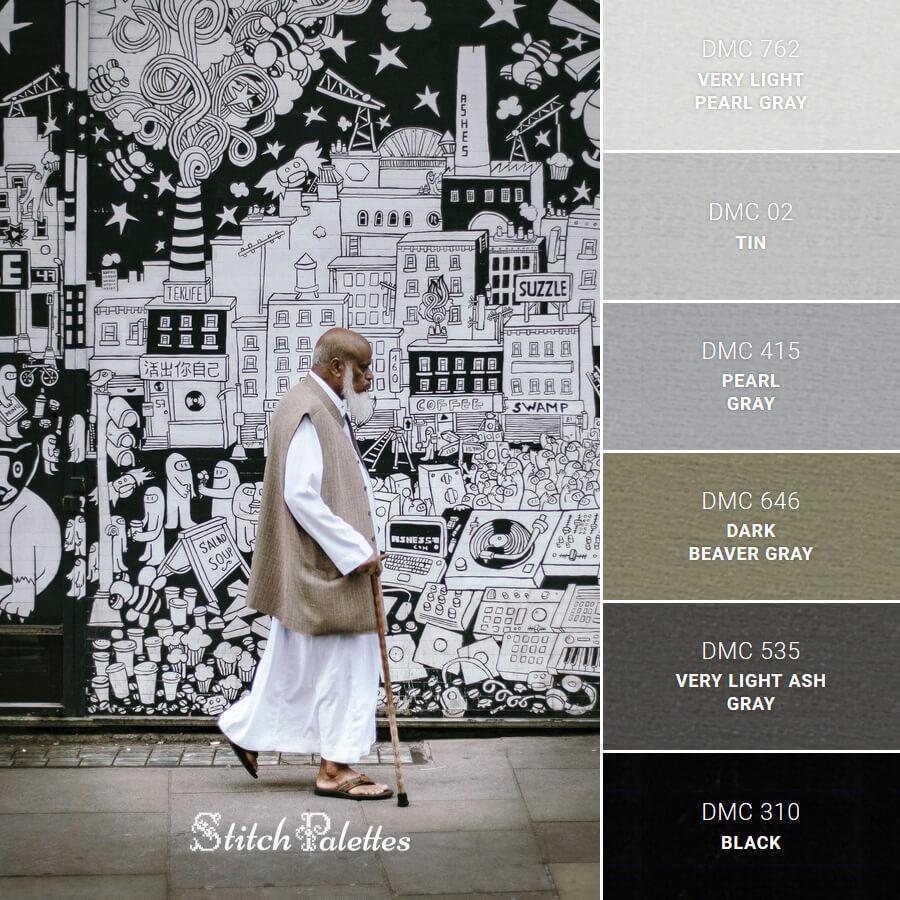 Stitch Palette SPA0063: Stories In Black & White
