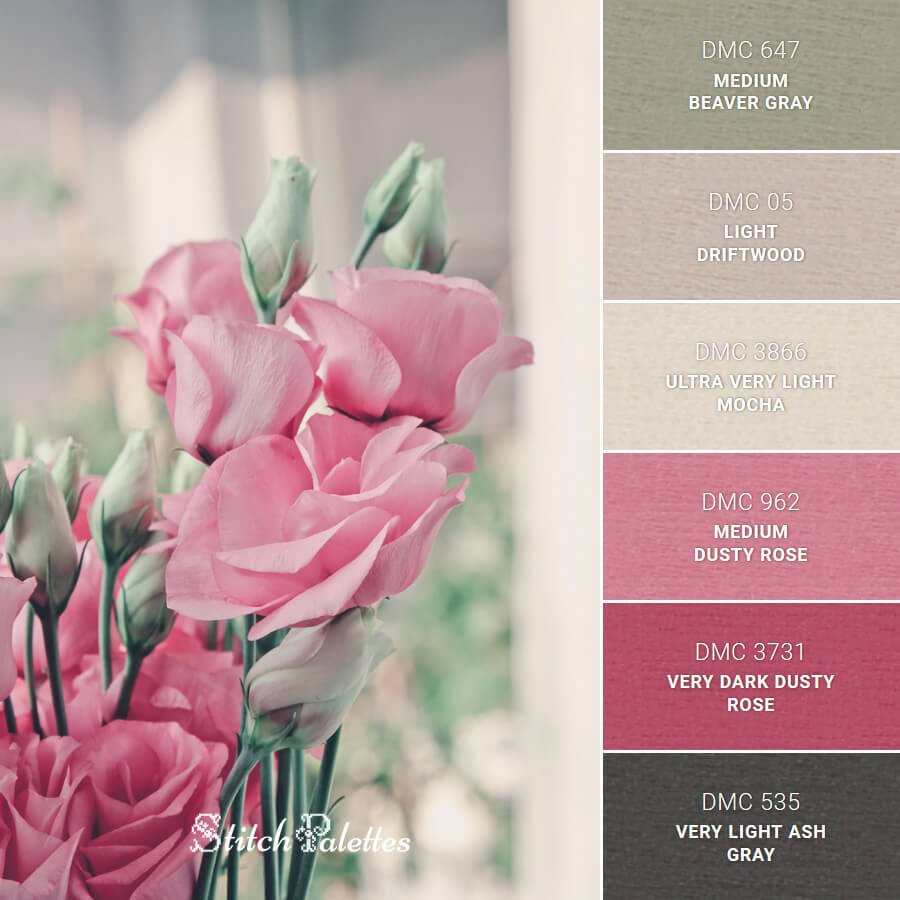 Stitch Palette SPA0089: Ethereal Pink Rose