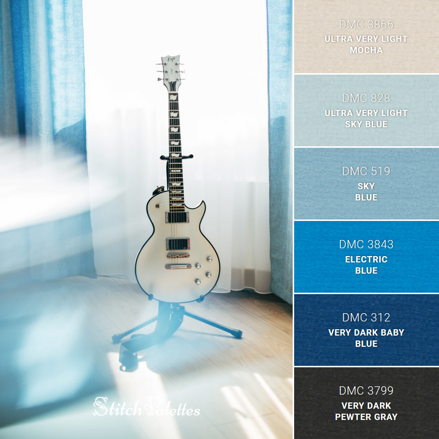 Stitch Palette SPA0130: Color Tones & Guitar Tunes