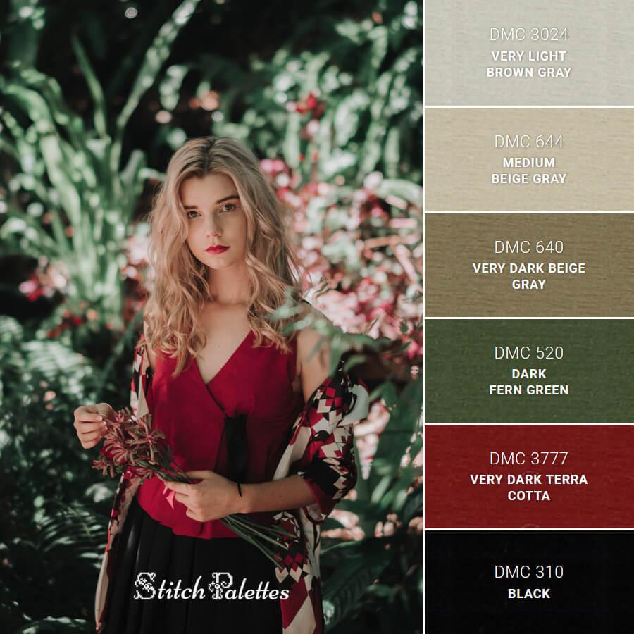 Stitch Palette SPA0135: In The Garden