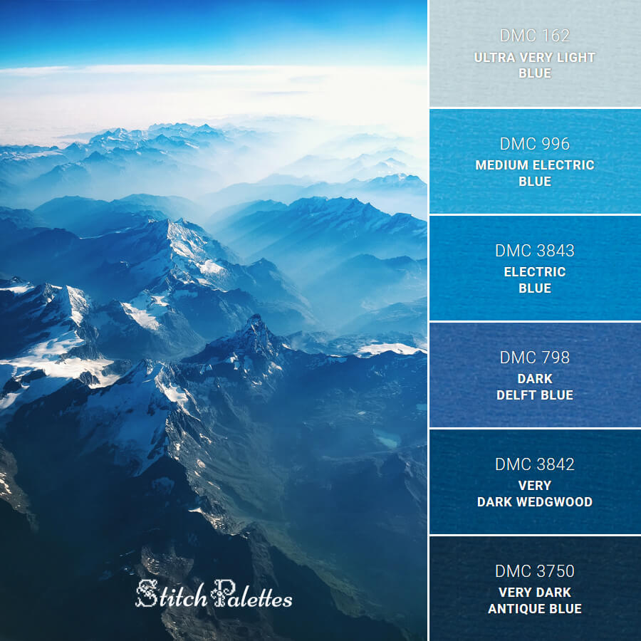 Stitch Palette SPA0159: Blue Mountains
