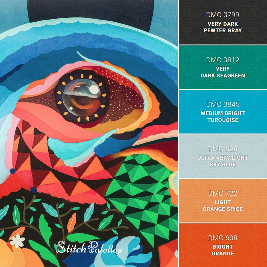 Stitch Palette SPA0175: Bird Of Life