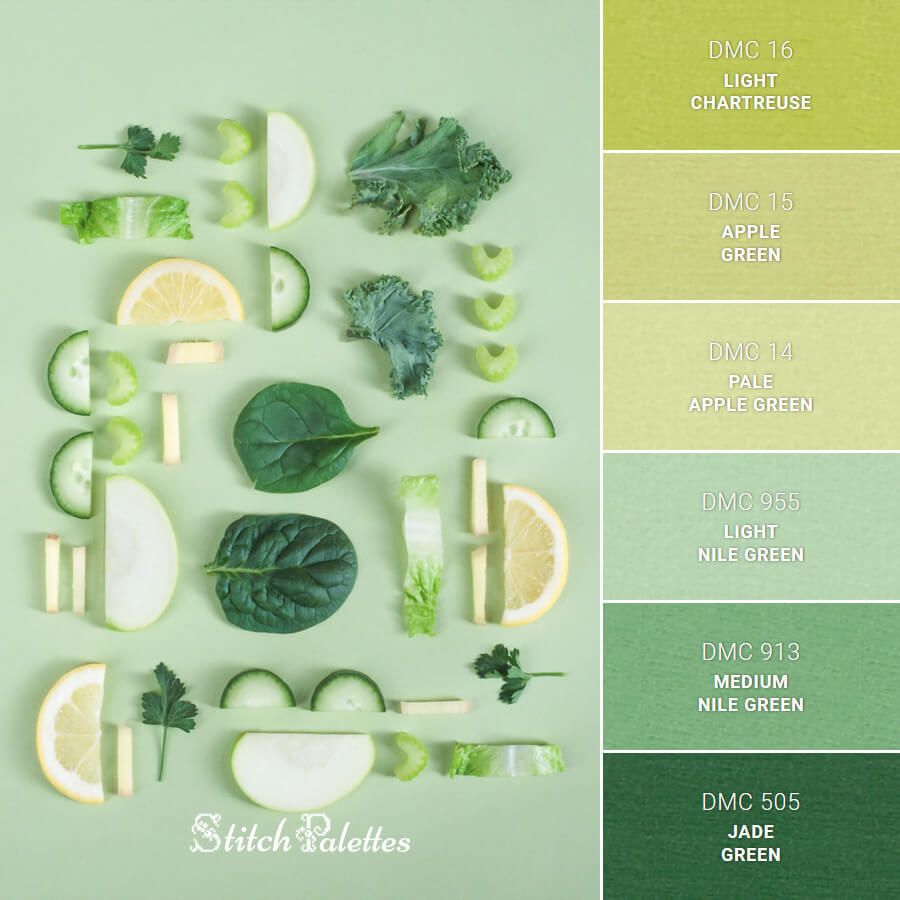 Stitch Palette SPA0176: Sliced Greens