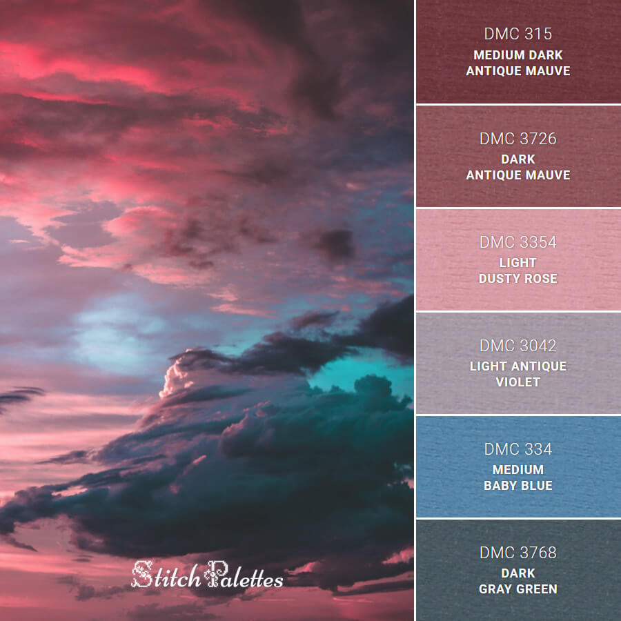 Stitch Palette SPA0251: Pink Sunset Sky