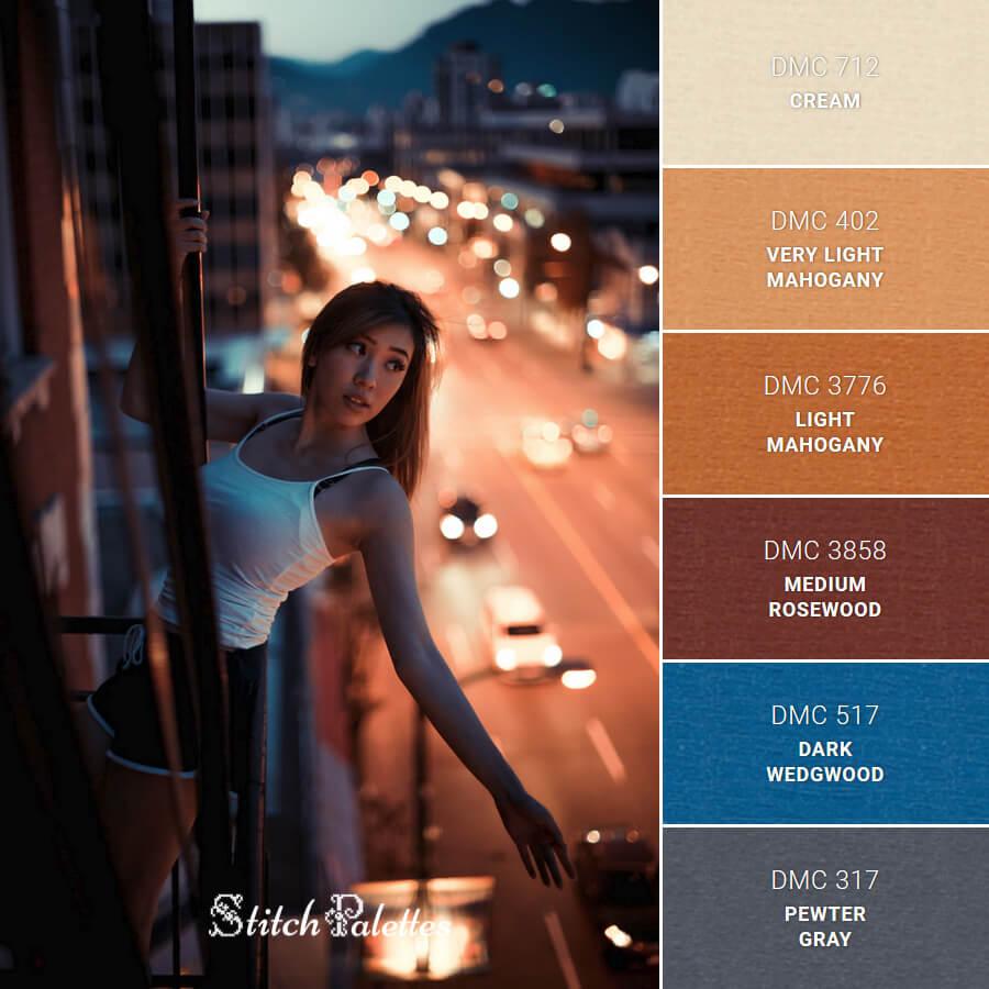 Stitch Palette SPA0258: Sunset Traffic