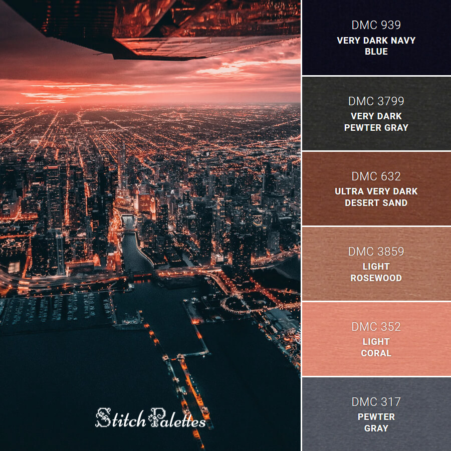 Stitch Palette SPA0270: Night Time Skyline