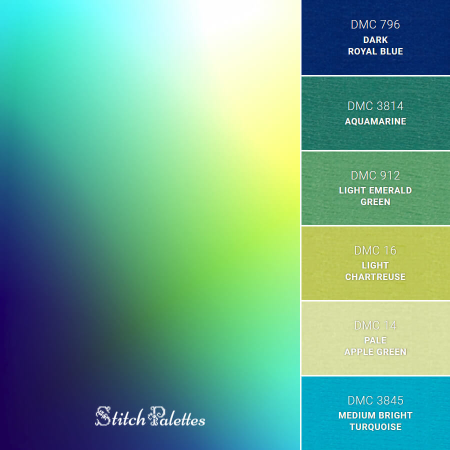 Stitch Palette SPA0284: Gradient Multicolor