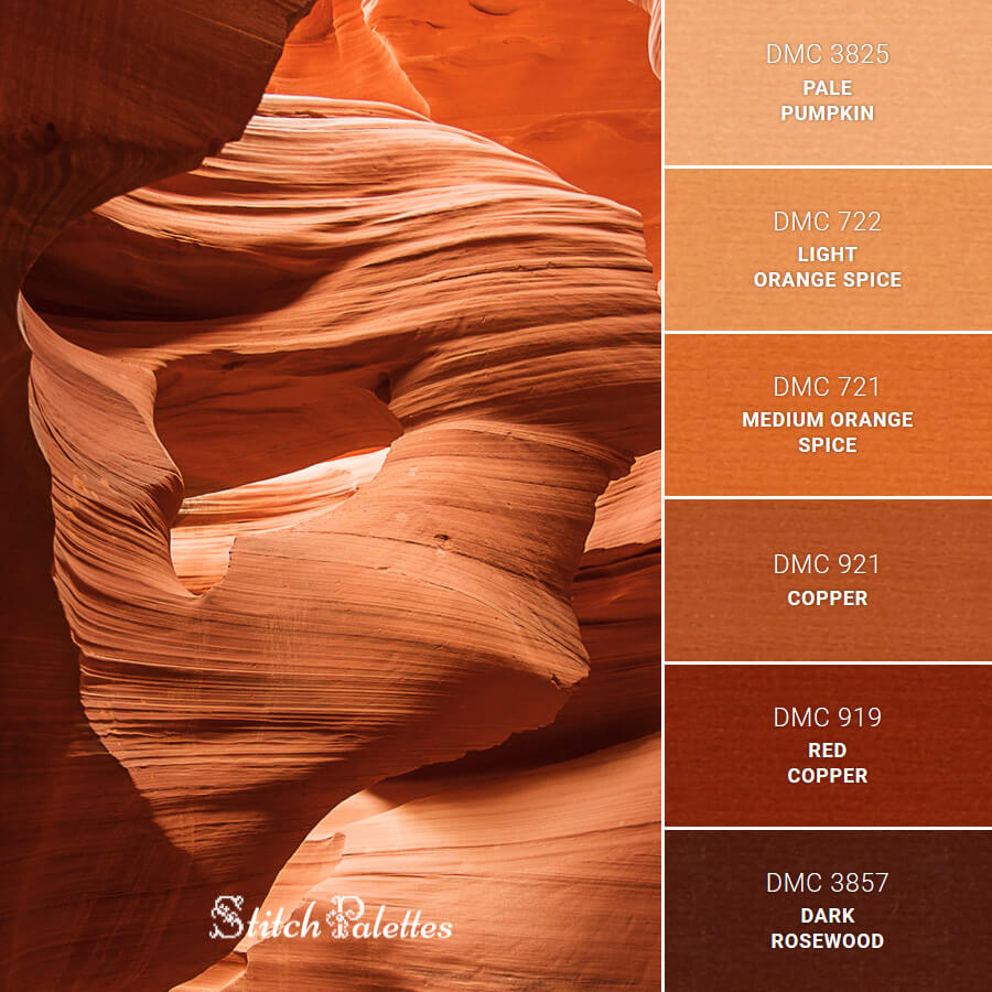 Stitch Palette SPA0298: Antelope Canyon