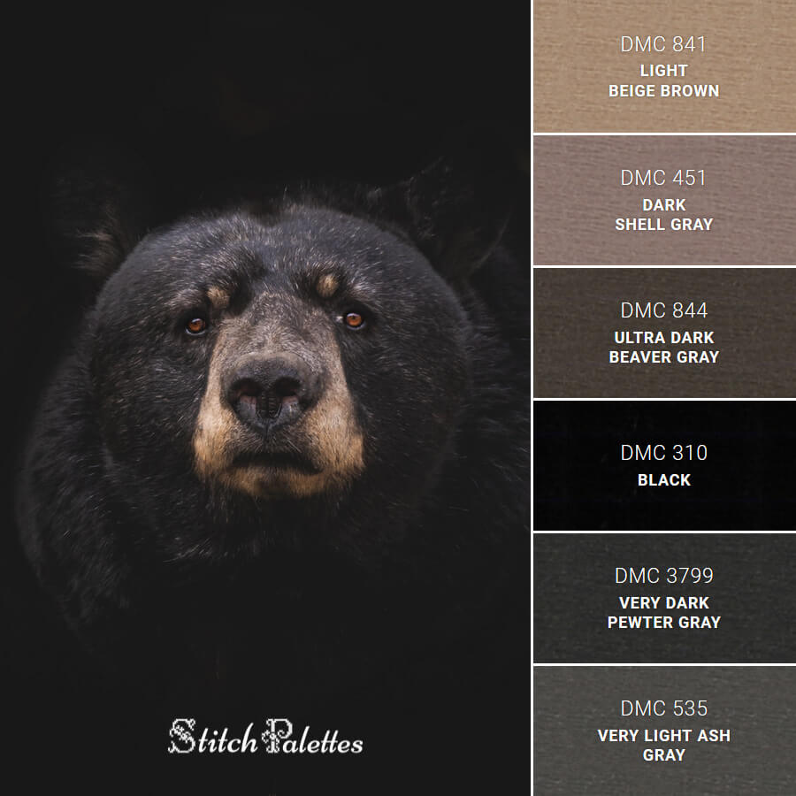 Stitch Palette SPA0302: Black Bear
