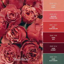 Stitch Palette SPA0308: Red Roses