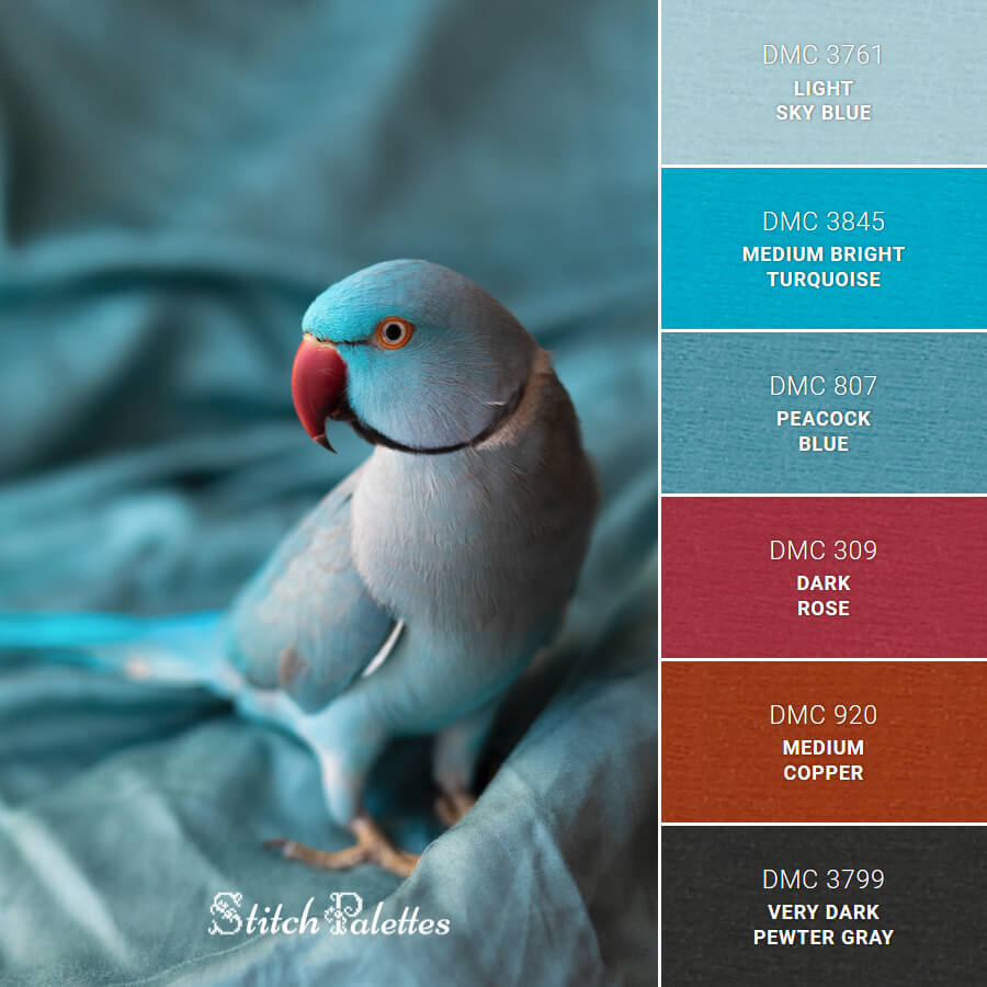 Stitch Palette SPA0325: Birds Of Blue Feather
