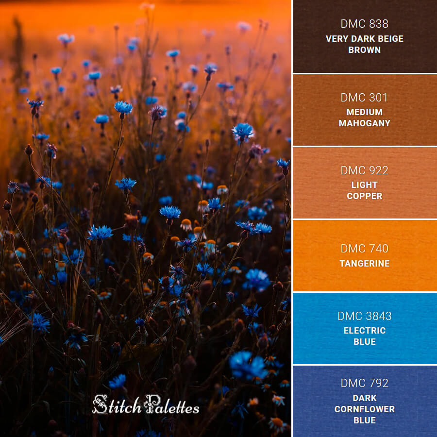 Stitch Palette SPA0336: Flowers Of The Fields