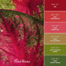 Stitch Palette SPA0348: Caladium After Rain
