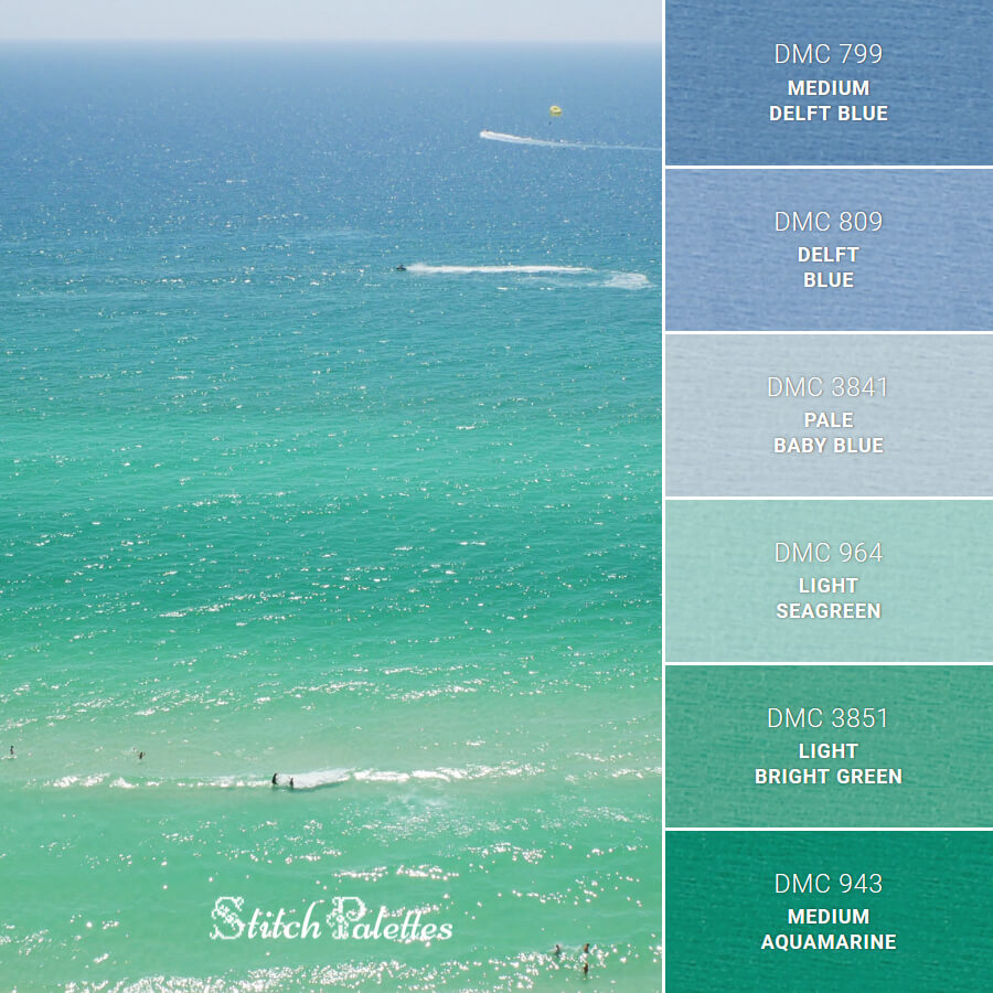 Stitch Palette SPA0365: Ocean Vibes
