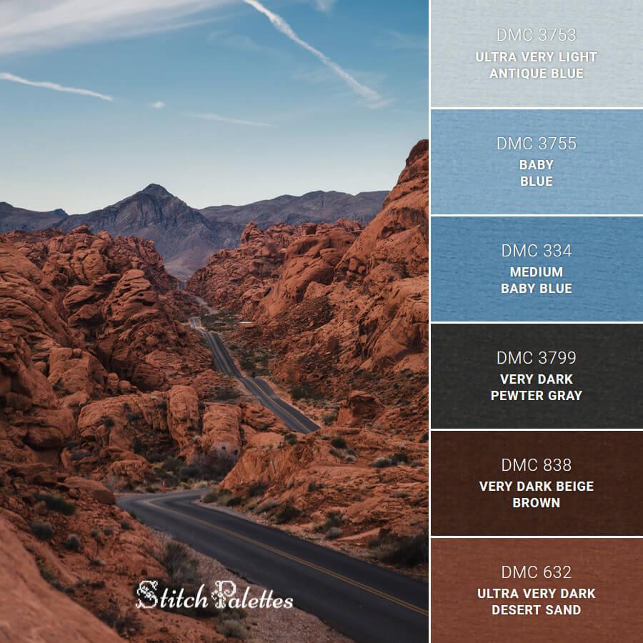 Stitch Palette SPA0367: Valley of Fire