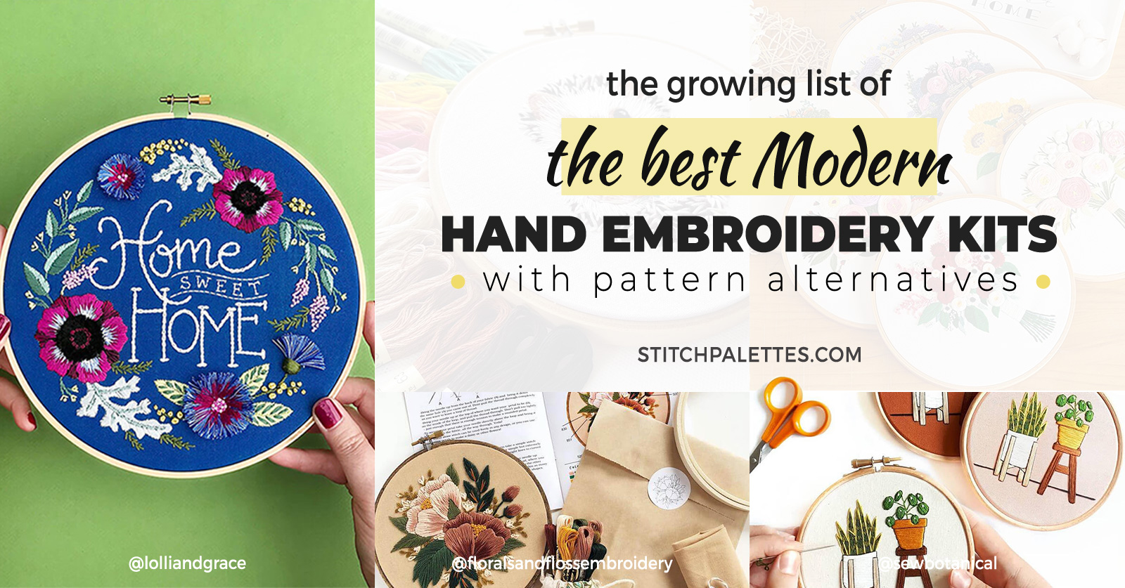 The Best Modern Hand Embroidery Kits, A Growing List