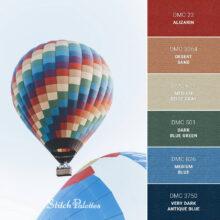 DMC Embroidery Thread Palette: Hot Air Balloon