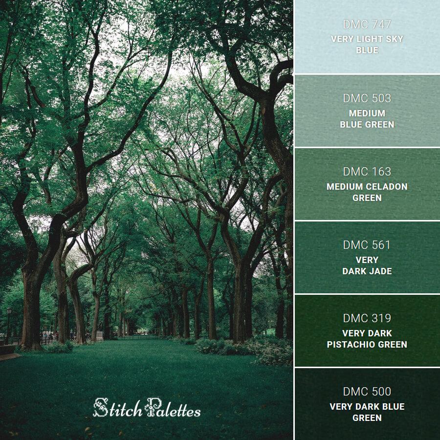 Stitch Palette SPA0394: A Stroll In The Park