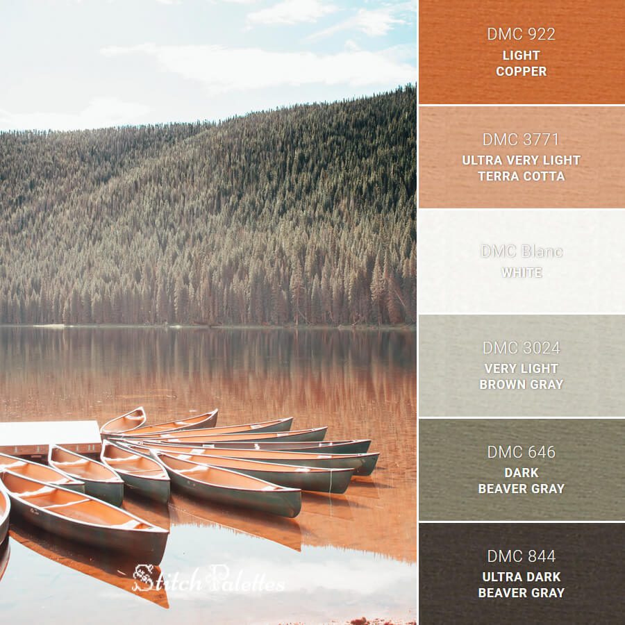 Stitch Palette SPA0404: Piney River Ranch