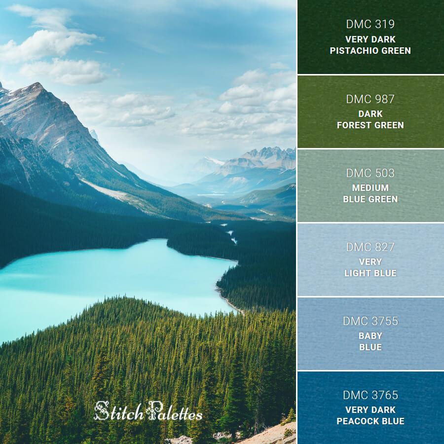 Stitch Palette SPA0406: Peyto Lake