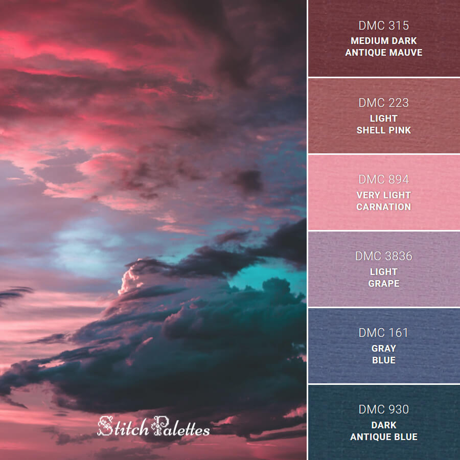 Stitch Palette SPA0416: Pink Sunset Sky