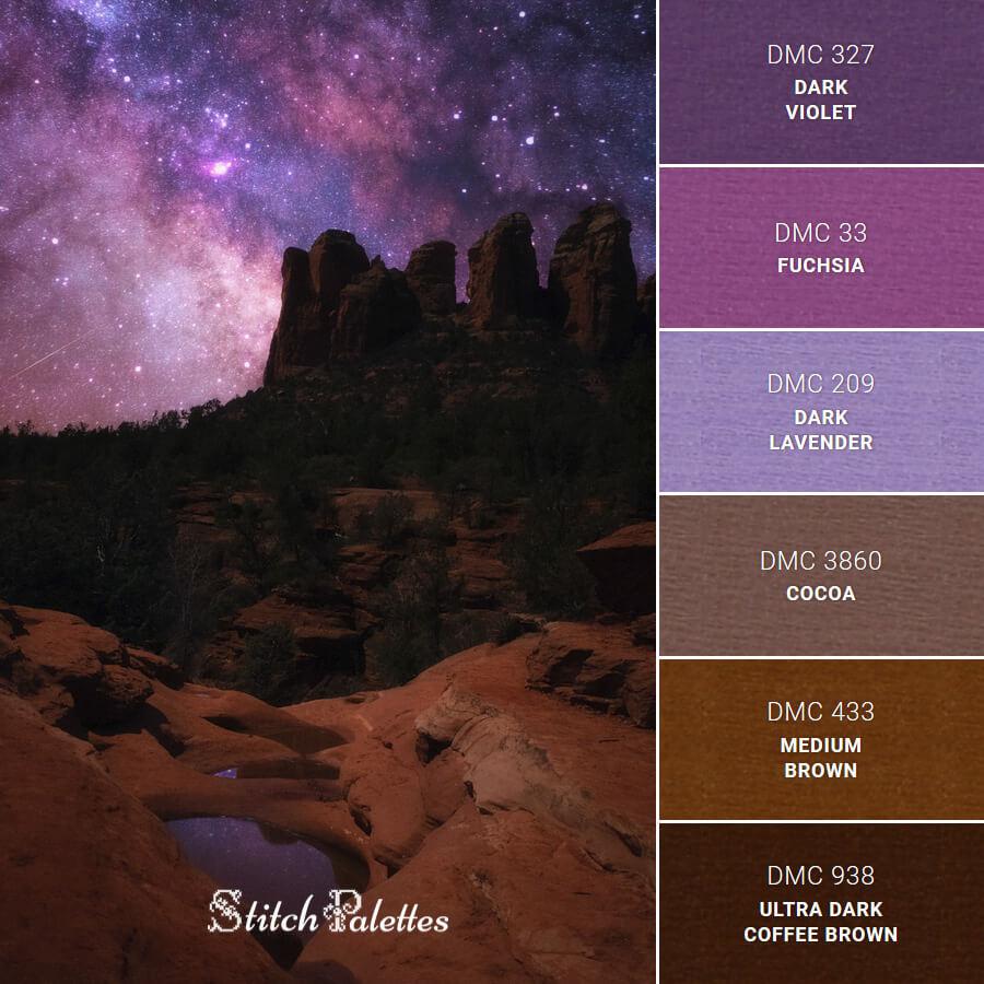 Stitch Palette SPA0446: Under The Stars