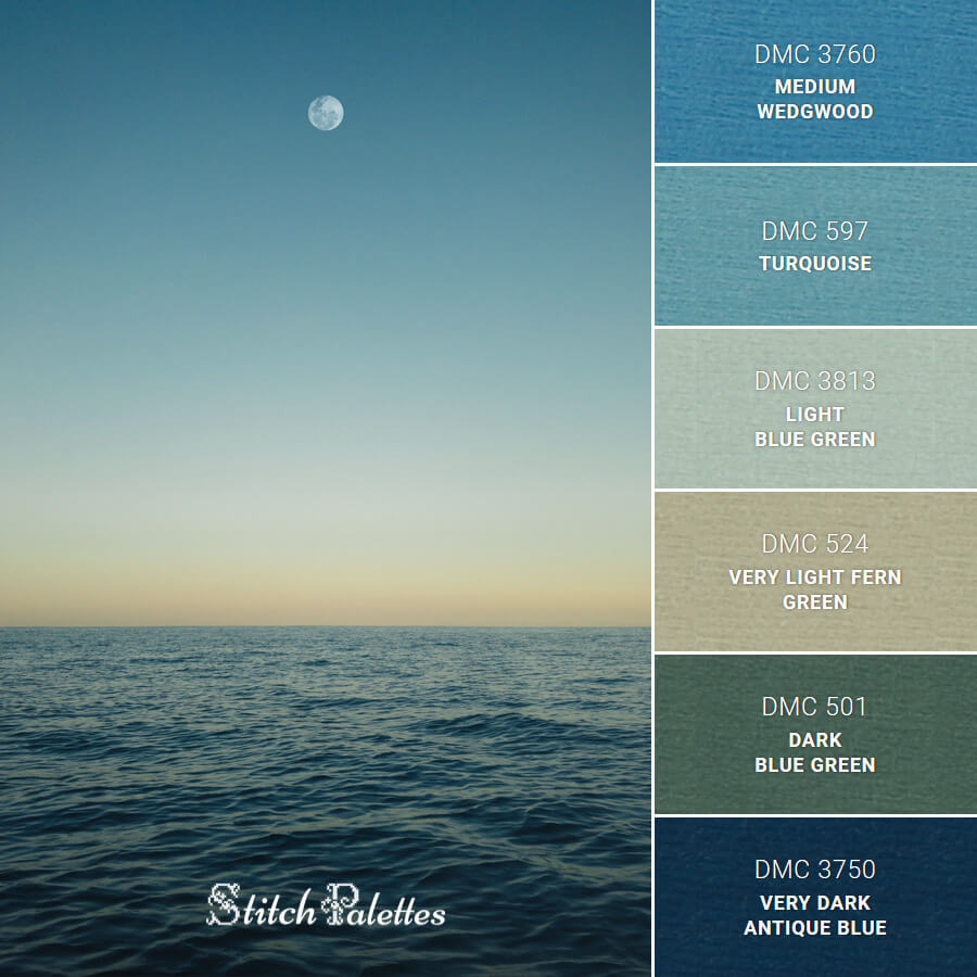 Stitch Palette SPA0447: Pacific Moon