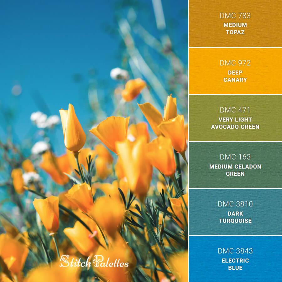 Stitch Palette SPA0451: Field Flowers