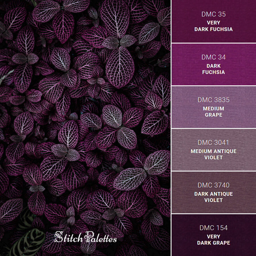 Stitch Palette SPA0462: Dark Purples