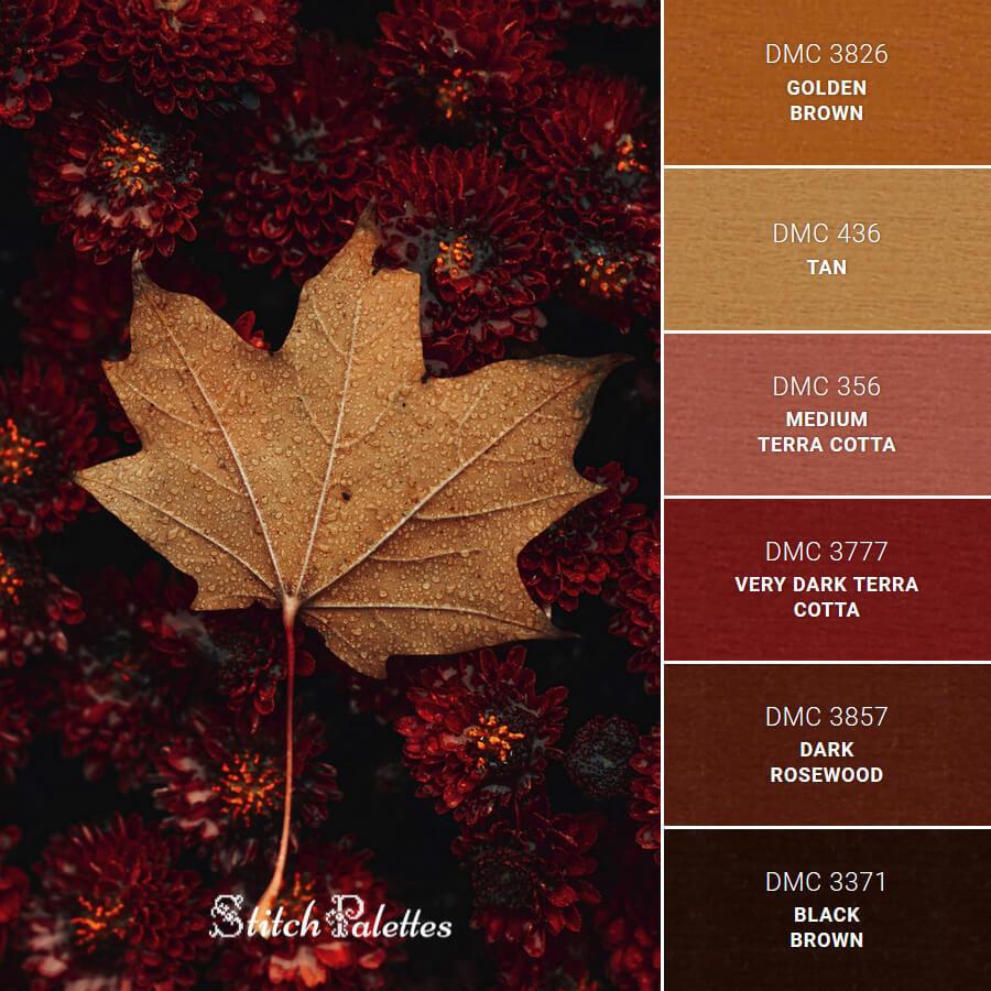 Stitch Palette SPA0466: A Single Leaf