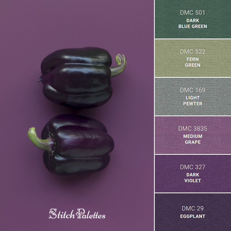 Stitch Palette SPA0475: Purple Bell Peppers
