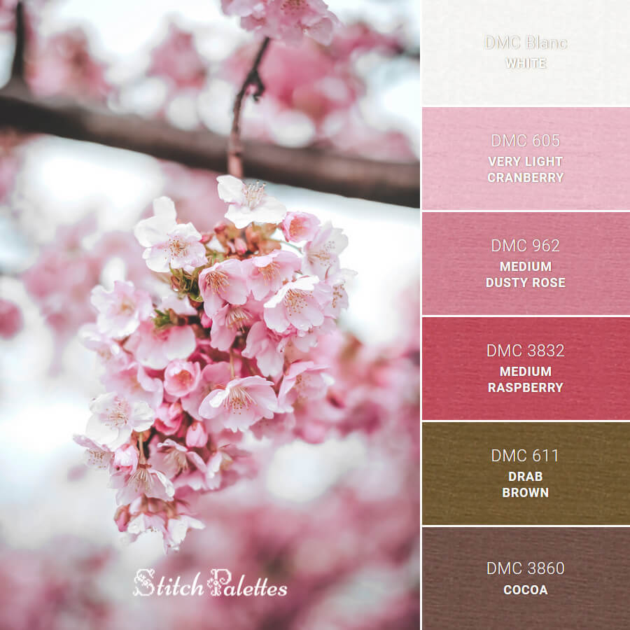 Stitch Palette SPA0483: Fragrant Pinks