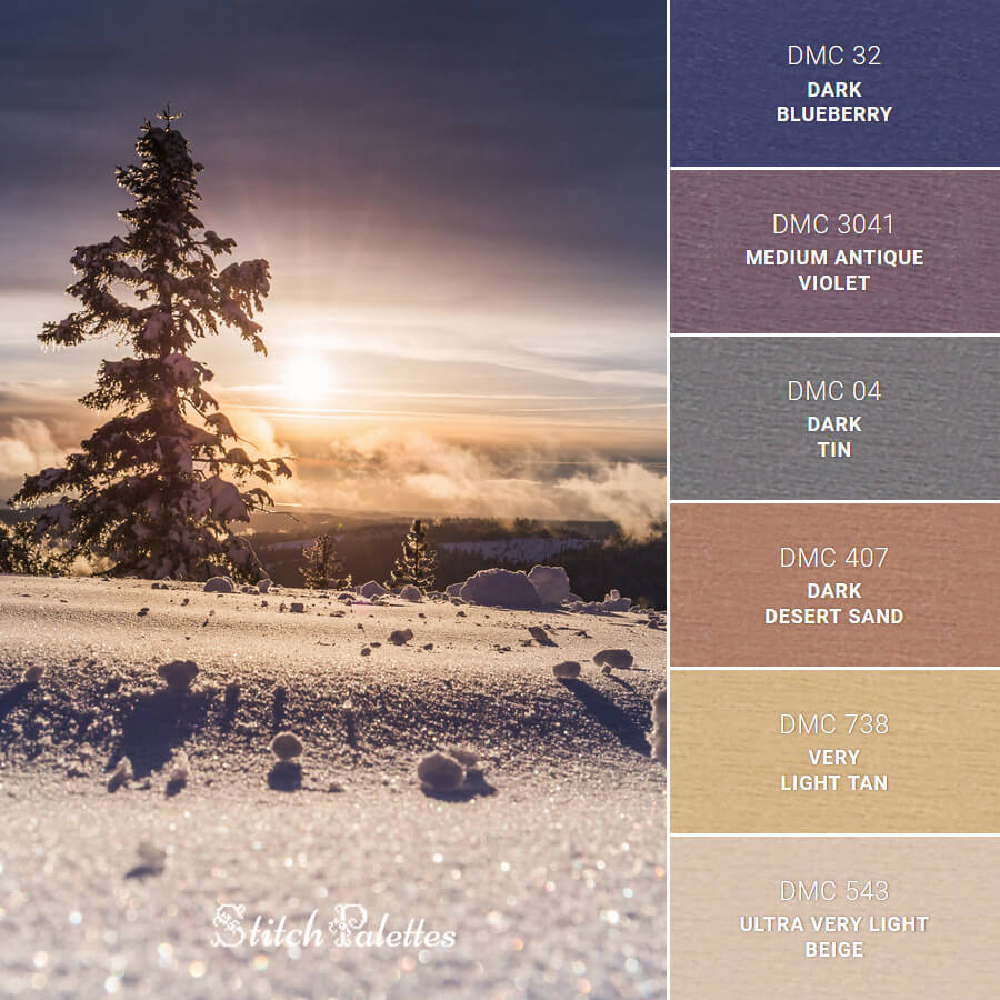 Stitch Palette SPA0485: Sunset Snow