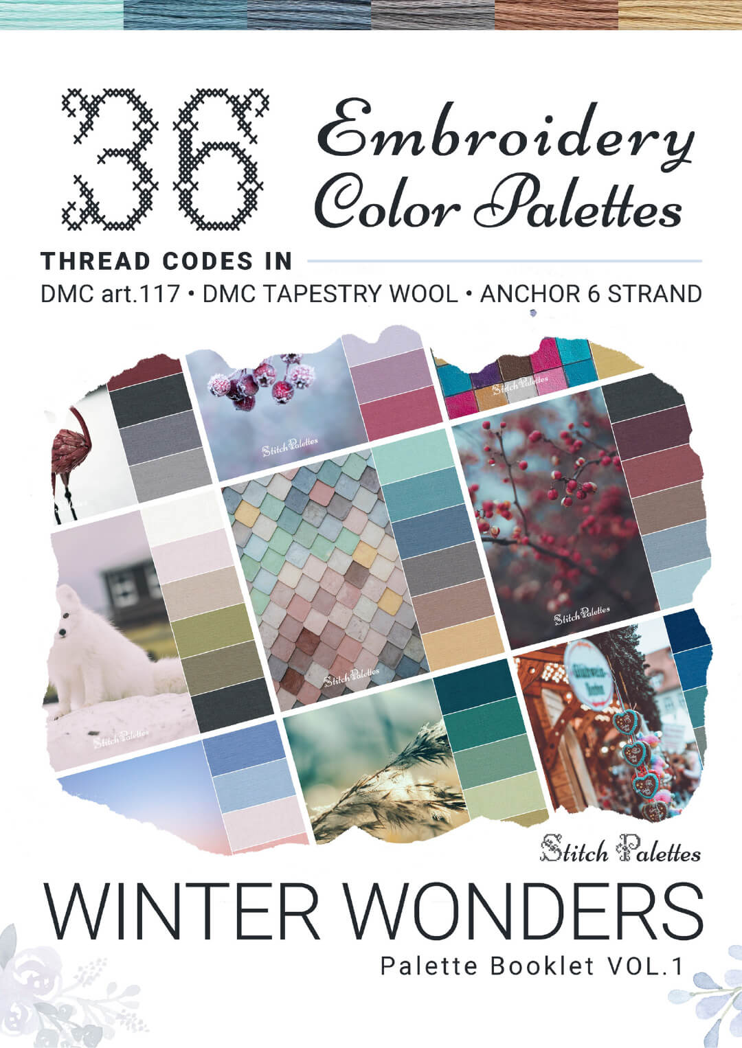 36 Winter Embroidery Color Palettes