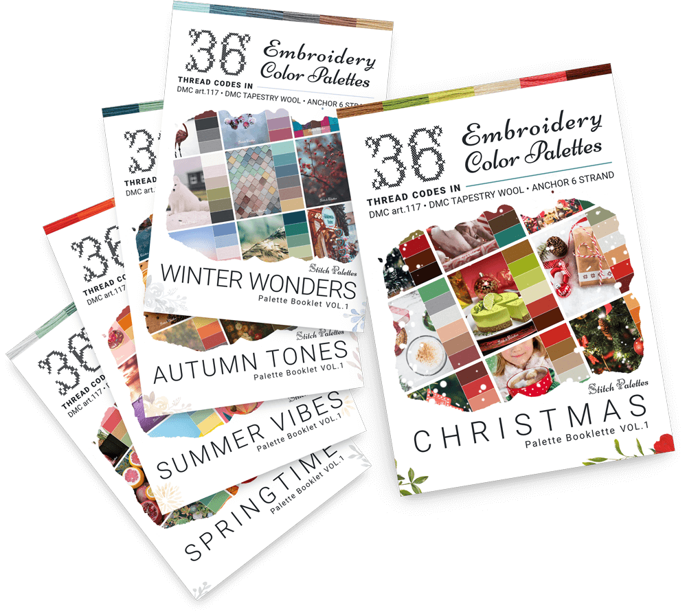 The Seasonal Embroidery Thread Palette Booklet Bundle