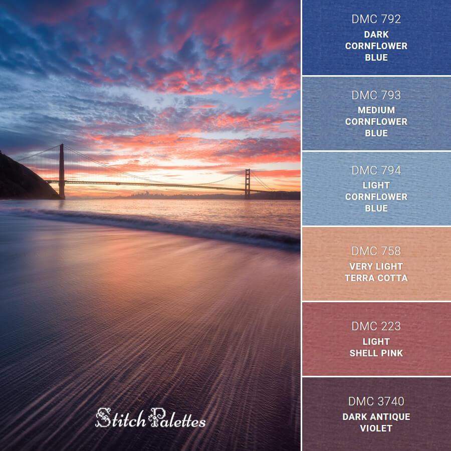 Stitch Palette SPA0507: San Francisco Sunset