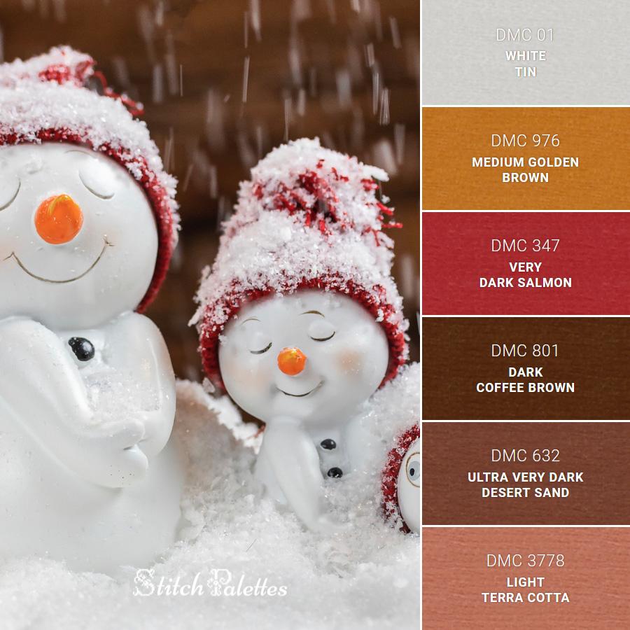 Stitch Palette SPA0520: Happy Snowmen