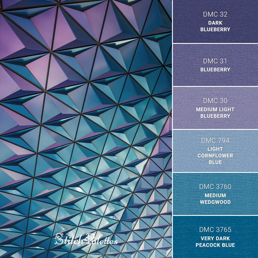 Stitch Palette SPA0522: Blue And Purple Mosaic