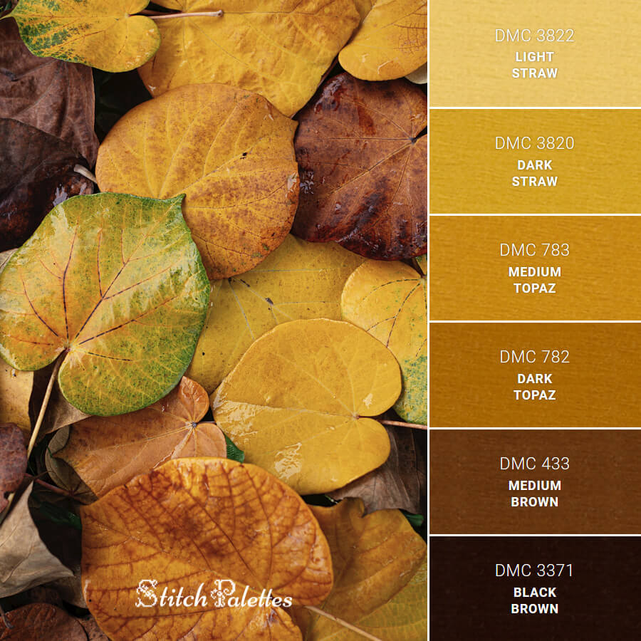 Stitch Palette SPA0524: Yellow Leaves