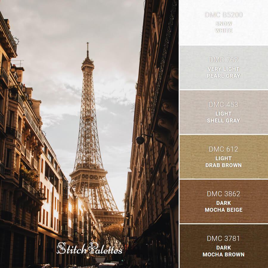 Stitch Palette SPA0531: Paris, Je T'aime