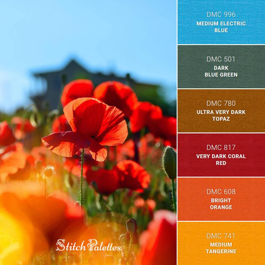 Stitch Palette SPA0536: Poppy Field