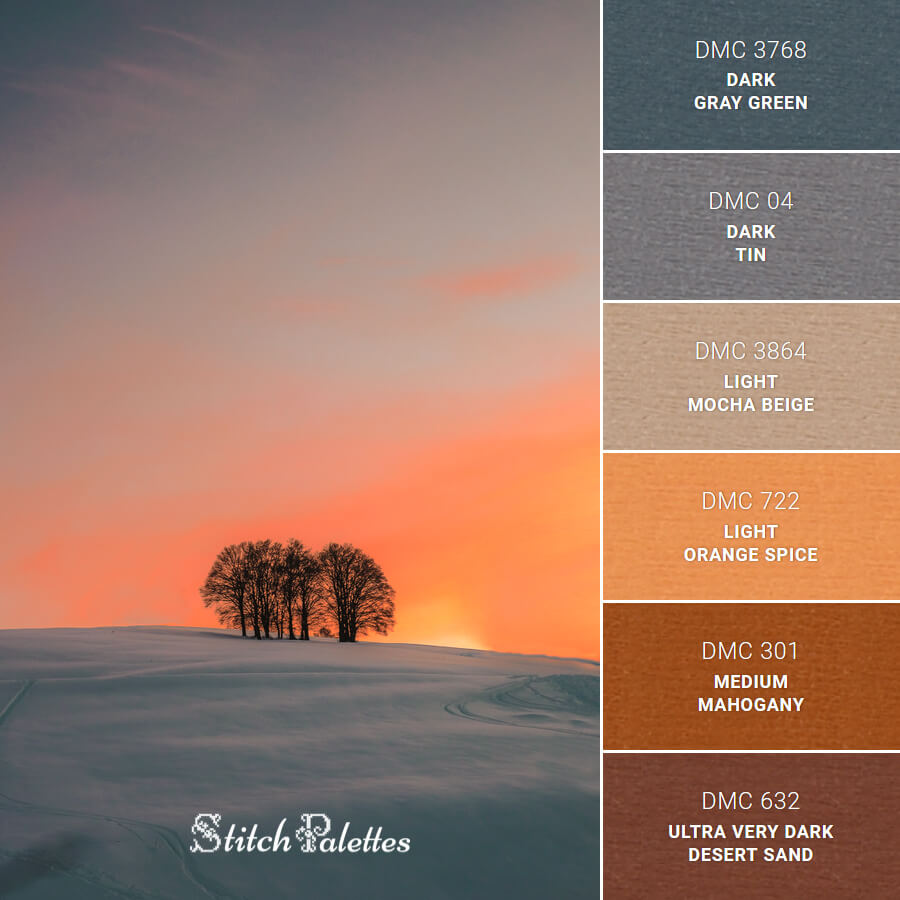 Stitch Palette SPA0552: Trees On Snow